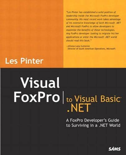 9780672326493: Visual FoxPro to Visual Basic .NET