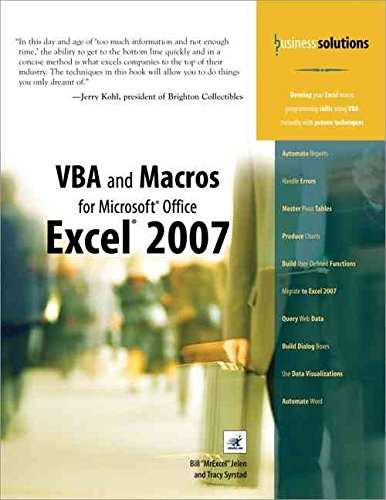 9780672326509: [VBA and Macros for Microsoft Excel] (By: Bill Jelen) [published: May, 2004]