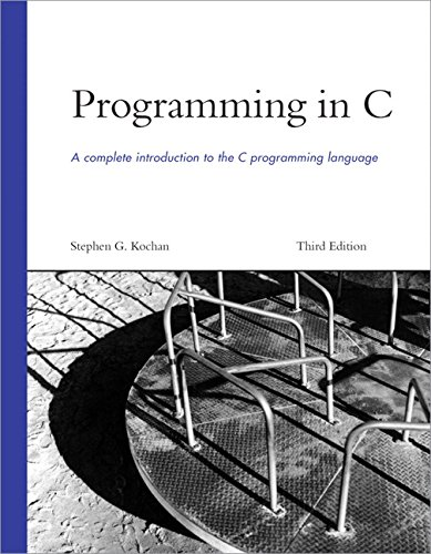 9780672326660: Programming in C (3rd Edition)