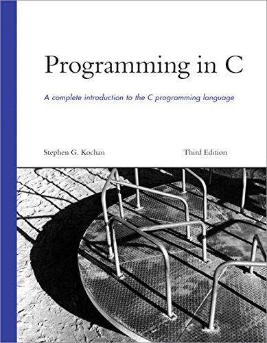 9780672326660: Programming in C