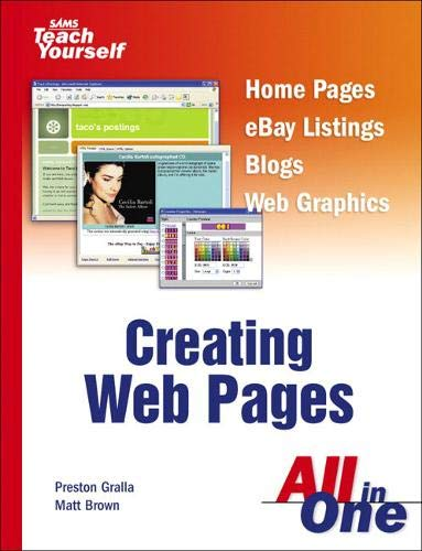 9780672326905: Sams Teach Yourself Creating Web Pages All in One