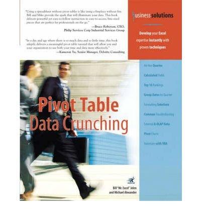 9780672327940: [(Pivot Table Data Crunching )] [Author: Michael Alexander] [Jun-2005]