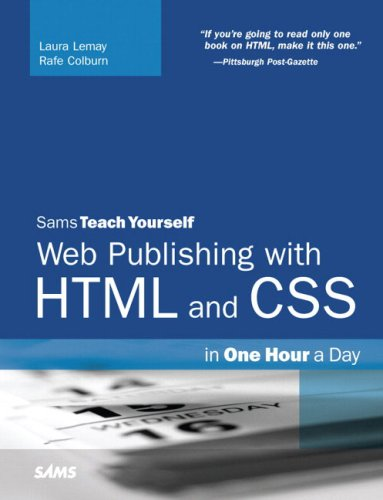 9780672328862: Sams Teach Yourself Web Publishing with HTML and CSS in One Hour a Day (5th Edition)