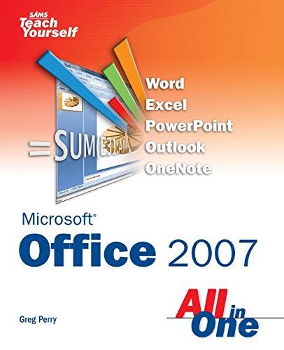 9780672329012: Sams Teach Yourself Microsoft Office 2007 All in One