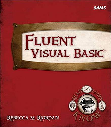 9780672335808: Fluent Visual Basic (Fluent Learning)