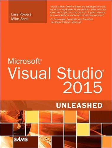 9780672337369: Microsoft Visual Studio 2015 Unleashed (3rd Edition)