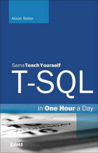 9780672337437: Teach Yourself T-sql in One Hour a Day
