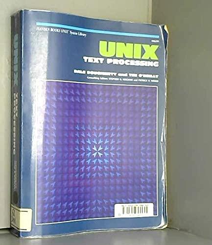 9780672462917: Unix Text Processing (Hayden Books UNIX library system)