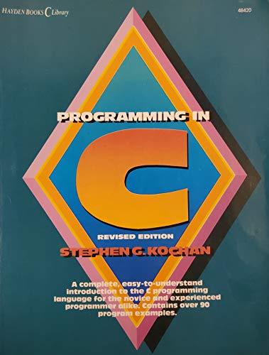 9780672484209: Programming in C (Hayden books C library)