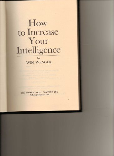 9780672517860: How to increase your intelligence