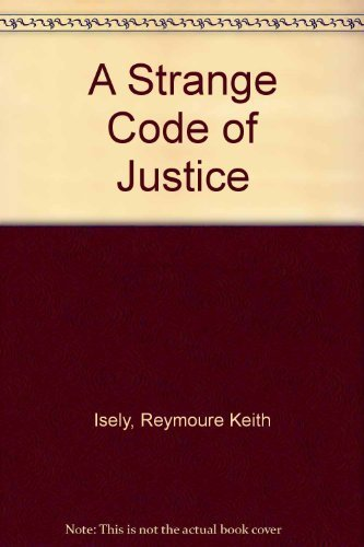 9780672519352: A strange code of justice (A Black bat mystery)