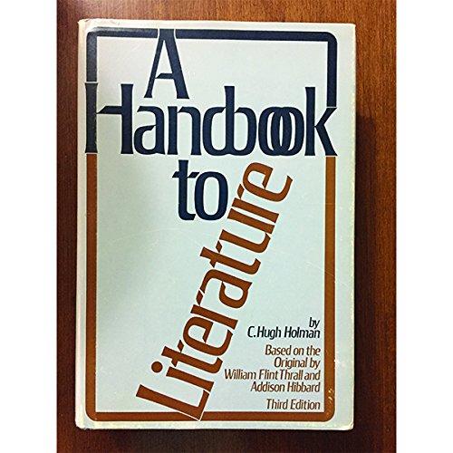 9780672530487: A handbook to literature,