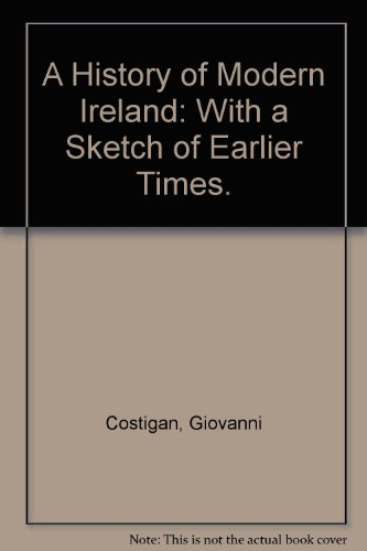 9780672535475: A History of Modern Ireland: With a Sketch of Earlier Times.