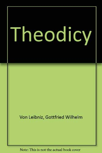 9780672603235: Theodicy (Library of Liberal Arts)