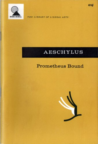 9780672603570: Prometheus Bound (The Library of Liberal Arts, #143)