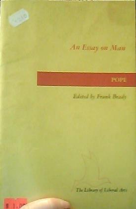 9780672611599: An Essay on Man, 1734