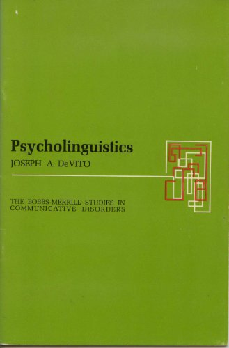 Psycholinguistics: Devito, Joseph A.,