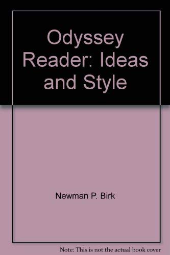 9780672630750: The Odyssey Reader: Ideas and Style