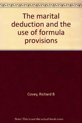9780672830440: The marital deduction and the use of formula provisions