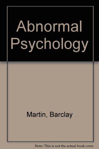 9780673050144: Abnormal Psychology