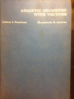 9780673053565: Analytic Geometry with Vectors