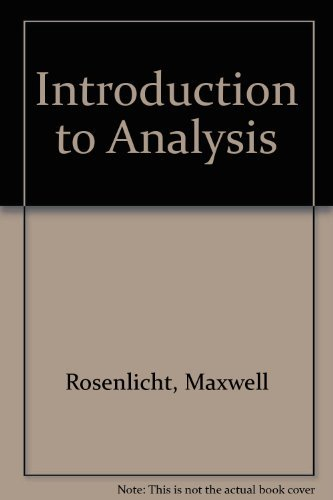 9780673053978: Introduction to Analysis