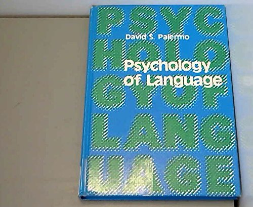 9780673077158: Psychology of Language