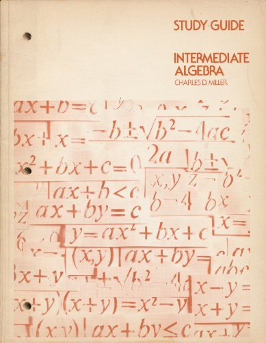 Study Guide, Intermediate Algebra (067307871X) by Miller, Charles David