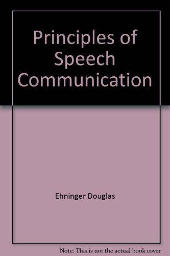 9780673079657: Principles of speech communication
