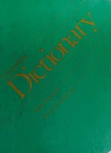 9780673123848: Scott, Foresman intermediate dictionary