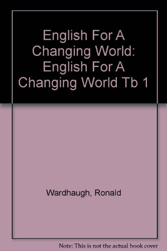 9780673145079: English for a Changing World Level 1