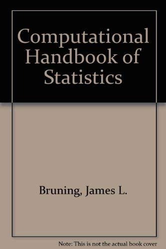 9780673150141: Computational Handbook of Statistics (2nd Edition)
