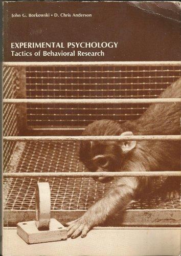 Experimental Psychology: Anderson, D.Chris; Borkowski, John G.