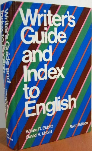9780673151094: Writer's guide and index to English
