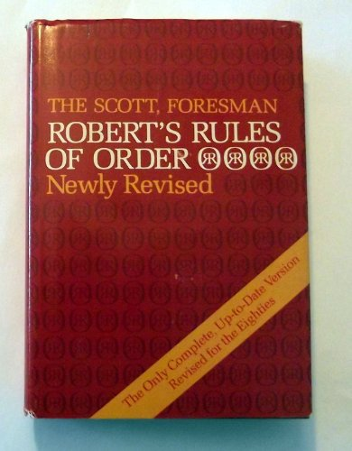 9780673154729: Robert's Rules of Order, Revised Edition
