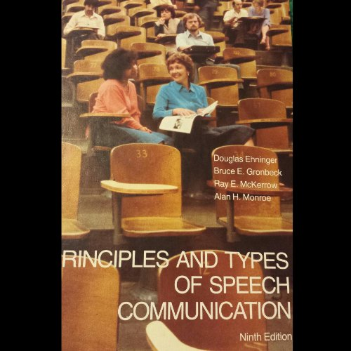 9780673155382: Principles and Types of Speech Communication