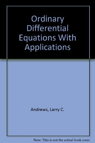 9780673158000: Ordinary Differential Equations With Applications