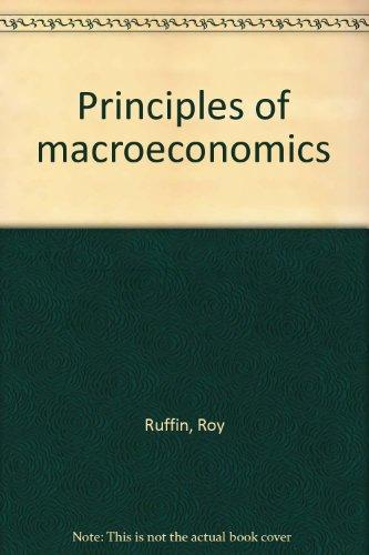 9780673158567: Principles of macroeconomics