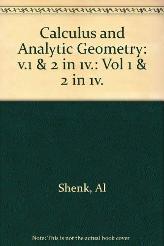 9780673167217: Calculus Analytic Geometry