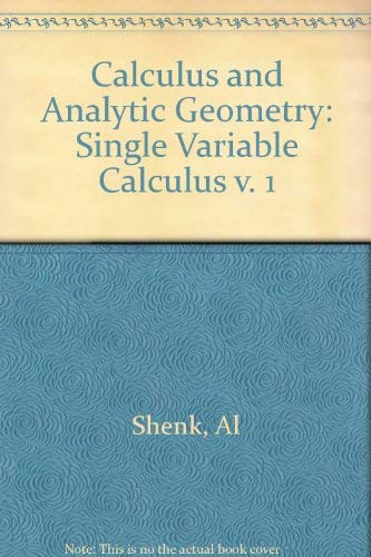 9780673167255: Calculus and Analytic Geometry (Calculus & Analytic Geometry)
