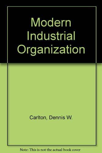 9780673180629: Modern Industrial Organization