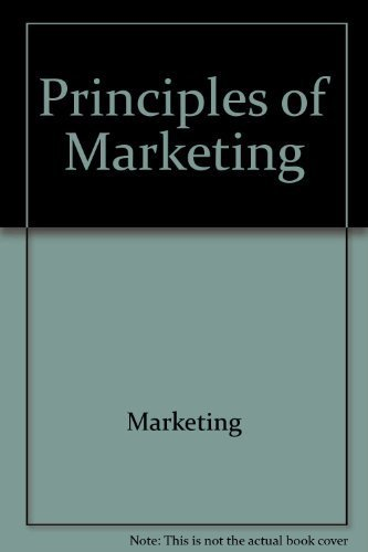 9780673182135: Principles of marketing (Scott, Foresman series in marketing)