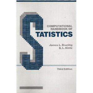 Computational Handbook of Statistics: B. L. Kintz;