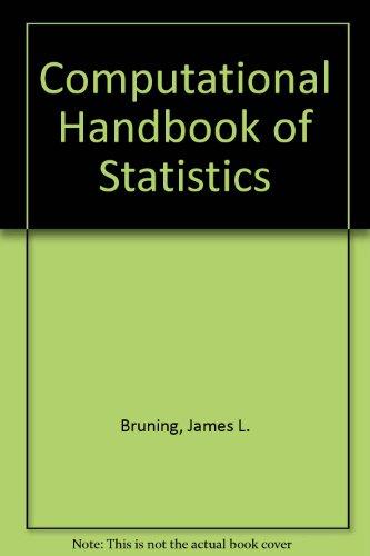 9780673187789: Computational Handbook of Statistics