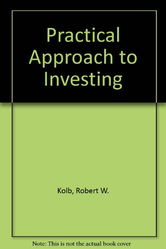 A Practical Approach to Investing/Book and Disk (067318904X) by Kolb, Robert W.