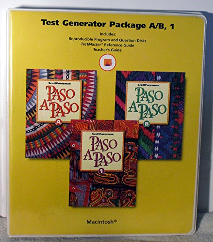 9780673217356: Paso A Paso, Level A/B, 1 Test Generator Package For Macintosh With Diskettes