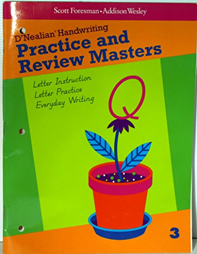 D'Nealian Handwriting Practice and Review Masters Grade 3
