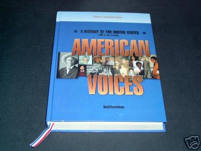 9780673352576: American Voices (A History of the United States, Part I - with Teacher's Indroduction and Unit 1)