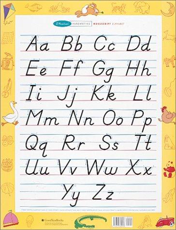 9780673360946: D'Nealian Handwriting Wall Chart, Manuscript