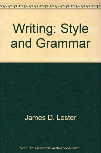 9780673361288: Writing: Style and grammar